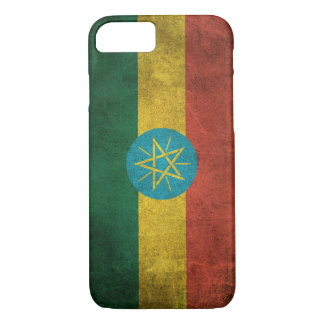Vintage Distressed Flag of Ethiopia iPhone 7 Case