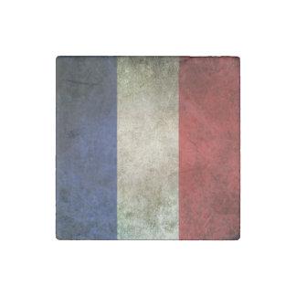 Vintage Distressed Flag of France Stone Magnet