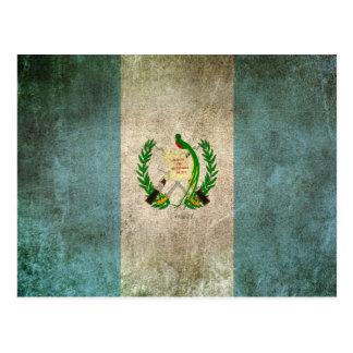Vintage Distressed Flag of Guatemala Postcard