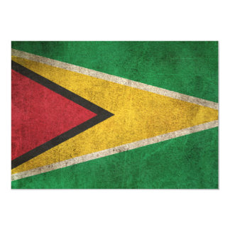 Vintage Distressed Flag of Guyana Card