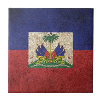Vintage Distressed Flag of Haiti Tile