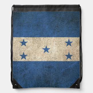 Vintage Distressed Flag of Honduras Drawstring Bag
