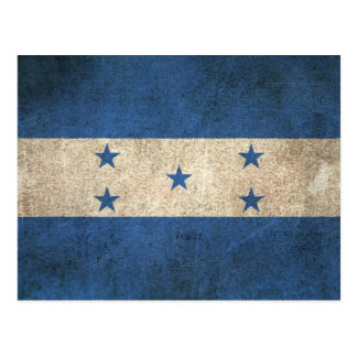 Vintage Distressed Flag of Honduras Postcard