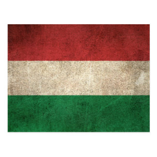 Vintage Distressed Flag of Hungary Postcard