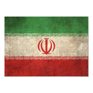 Vintage Distressed Flag of Iran Card