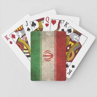 Vintage Distressed Flag of Iran Playing Cards
