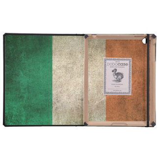 Vintage Distressed Flag of Ireland Covers For iPad