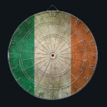 "Vintage Distressed Flag of Ireland Dartboard<br><div class=""desc"">This vintage flag of Ireland design features rough textures and scratches. The flag has an old and worn feel which gives it a stylish look. This unique aged flag pattern is a great way to show off your Irish pride and patriotism.</div>"