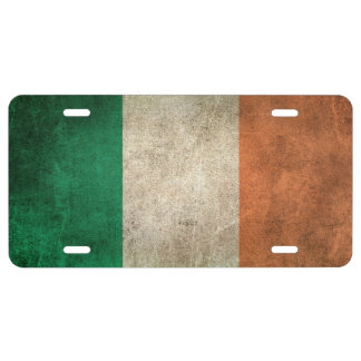 Vintage Distressed Flag of Ireland License Plate