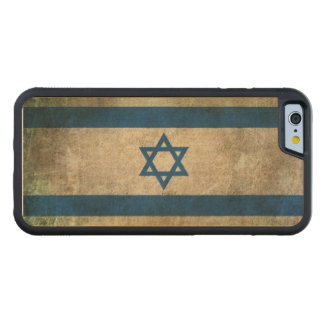 Vintage Distressed Flag of Israel Carved Maple iPhone 6 Bumper Case