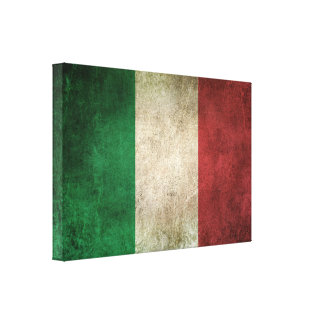 Vintage Distressed Flag of Italy Canvas Print