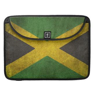 Vintage Distressed Flag of Jamaica Sleeves For MacBook Pro