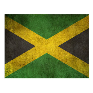 Vintage Distressed Flag of Jamaica Postcard