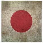 Vintage Distressed Flag of Japan Cloth Napkins