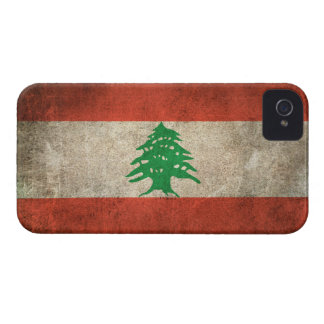 Vintage Distressed Flag of Lebanon Case-Mate iPhone 4 Cases