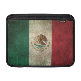 Vintage Distressed Flag of Mexico Sleeves For MacBook Air