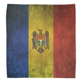 Vintage Distressed Flag of Moldova Bandana