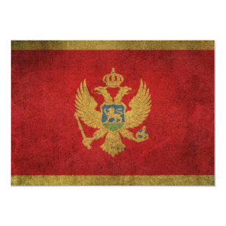 Vintage Distressed Flag of Montenegro Card