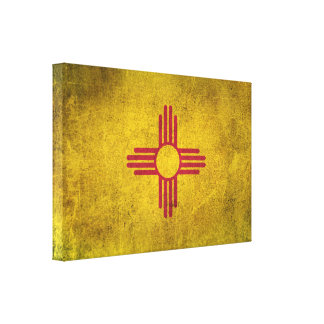 Vintage Distressed Flag of New Mexico Canvas Print