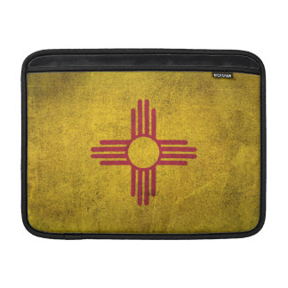 Vintage Distressed Flag of New Mexico Sleeves For MacBook Air