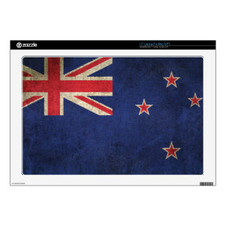 Vintage Distressed Flag of New Zealand Decals For Laptops
