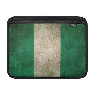 Vintage Distressed Flag of Nigeria MacBook Air Sleeves
