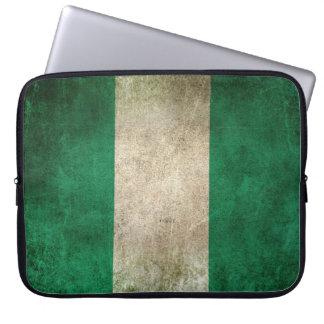 Vintage Distressed Flag of Nigeria Laptop Computer Sleeves