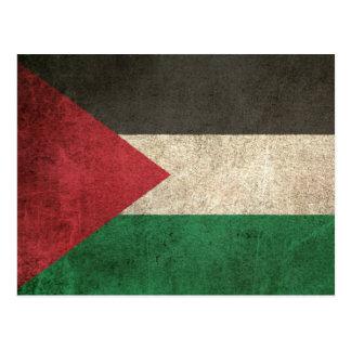 Vintage Distressed Flag of Palestine Postcard