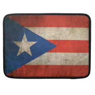Vintage Distressed Flag of Puerto Rico MacBook Pro Sleeve