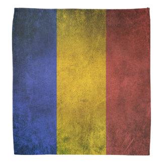 Vintage Distressed Flag of Romania Bandana