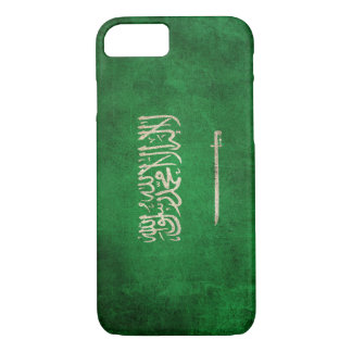 Vintage Distressed Flag of Saudi Arabia iPhone 7 Case