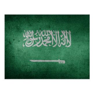 Vintage Distressed Flag of Saudi Arabia Postcard