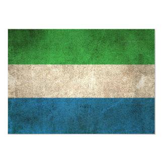 Vintage Distressed Flag of Sierra Leone Card