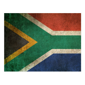 Vintage Distressed Flag of South Africa Postcard