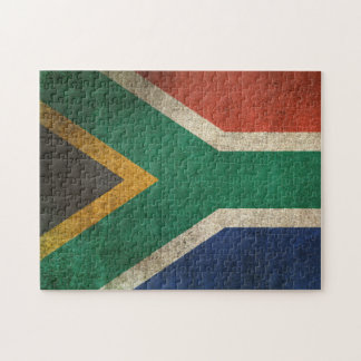 Vintage Distressed Flag of South Africa Puzzles