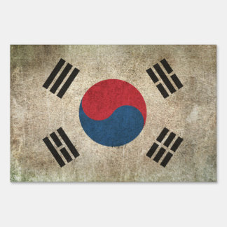 Vintage Distressed Flag of South Korea Signs