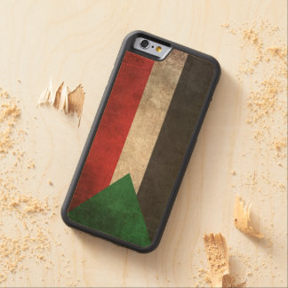 Vintage Distressed Flag of Sudan Carved® Maple iPhone 6 Bumper Case