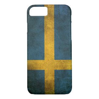 Vintage Distressed Flag of Sweden iPhone 7 Case