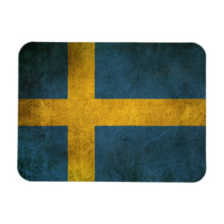 Vintage Distressed Flag of Sweden Magnet