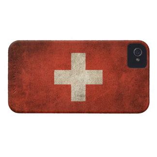 Vintage Distressed Flag of Switzerland iPhone 4 Cases