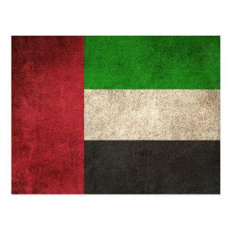 Vintage Distressed Flag of United Arab Emirates Postcard