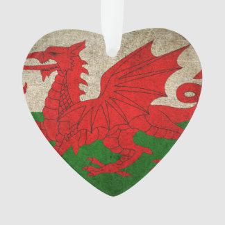 Vintage Distressed Flag of Wales