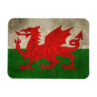 Vintage Distressed Flag of Wales Rectangular Photo Magnet