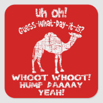 Vintage Distressed Hump Day Camel Stickers