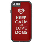Vintage Distressed Keep Calm And Love Dogs iPhone 6 Case