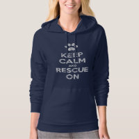 Vintage Distressed Keep Calm & Rescue On Hoodie