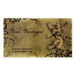 Vintage Distressed Lion & Thorns Business Cards