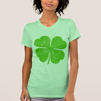 Vintage Distressed Lucky 4 Leaf Clover Tee Shirts