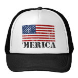 Vintage Distressed 'MERICA US Flag Hats