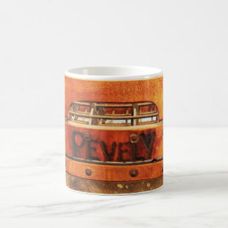 Vintage Distressed Metal Pevely Dairy Milk Crate Coffee Mug